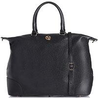 Большая сумка Marina Volpe из зернистой кожи, фото