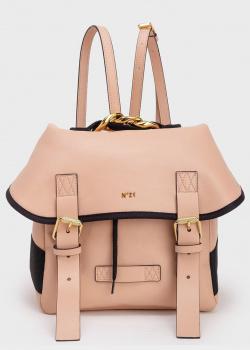 Бежевый рюкзак N21 из матовой экокожи, фото