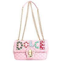 Розовая сумка Dolce&Gabbana Lucia с аппликацией, фото