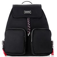 Черный рюкзак Mandarina Duck Style с накладными карманами, фото