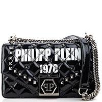 Вечерняя сумка Philipp Plein с брендовой отделкой, фото