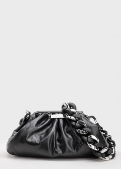 Черный клатч Philipp Plein с цепочкой, фото