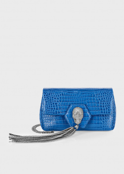 Синяя сумка Philipp Plein с цепочкой, фото
