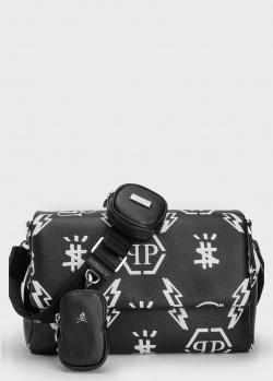 Прямоугольная сумка Philipp Plein с принтом, фото