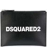 Черный клатч Dsquared2 на молнии, фото