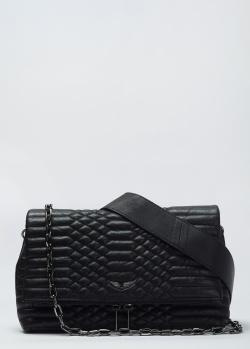 Стеганая сумка кросс-боди Zadig & Voltaire Rocky Noir, фото