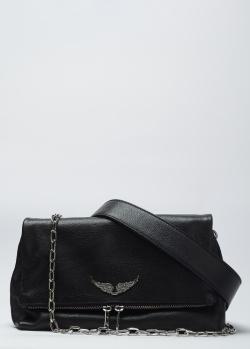 Кожаная сумка Zadig & Voltaire Rocky Noir с цепочкой, фото