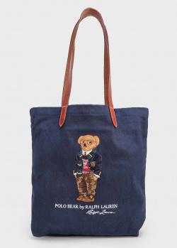 Текстильная сумка Polo Ralph Lauren с мишкой, фото