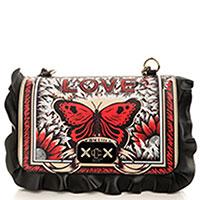 Черная сумка Red Valentino Rock Ruffles с декором-рюшами, фото