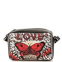 Черная сумка Red Valentino Loveblade с заклепками на ремешке, фото