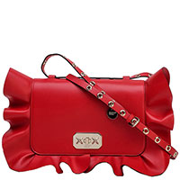 Женская сумка Red Valentino красного цвета с рюшами, фото