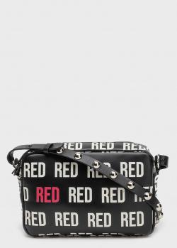 Маленькая сумка Red Valentino с брендовым принтом, фото