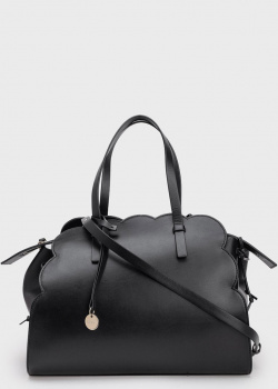 Черная сумка Red Valentino с фигурным краем, фото