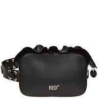 Сумка-кросс-боди Red Valentino Rock черная с рюшами, фото
