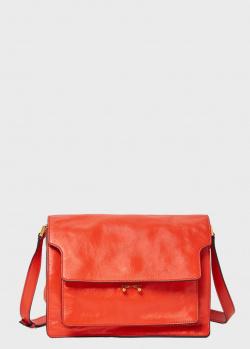 Сумка-мессенджер Marni Soft Trunk красного цвета, фото