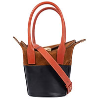 Коричневая сумка Marni с замшевыми вставками, фото