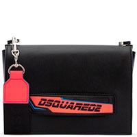 Черная сумка Dsquared2 с контрастной ручкой, фото