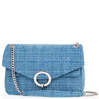 Синяя сумка Sandro с жаккардовым узором, фото
