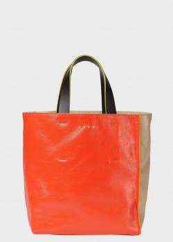 Сумка-тоут Marni Museo Soft с брендовой надписью, фото