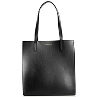 Черная сумка-шоппер Piumelli Singapore из гладкой кожи, фото