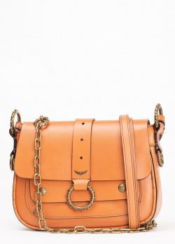 Коричневая сумка Zadig & Voltaire Kate Smooth со сменными ремнями, фото