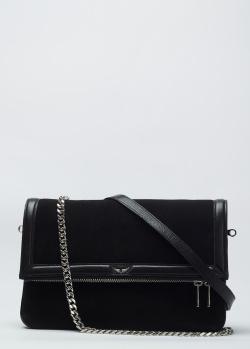Замшевая сумка Zadig & Voltaire Rock Novel со съемной цепочкой, фото