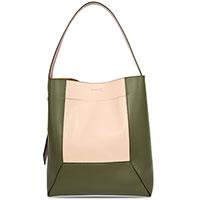 Женская сумка Marni из зеленой и розовой кожи, фото