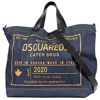 Синяя сумка Dsquared2 с принтом, фото