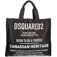 Сумка-шоппер Dsquared2 с брендовыми надписями, фото