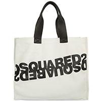Белая сумка-шоппер Dsquared2 с логотипом, фото