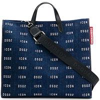 Джинсовая сумка-шоппер Dsquared2 Icon с принтом, фото