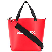 Красная сумка Dsquared2 с брендовым принтом, фото