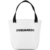 Белая сумка Dsquared2 из гладкой кожи, фото