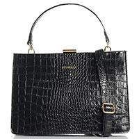 Черная сумка Piumelli Syracuse из кожи с тиснением, фото