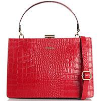 Красная сумка Piumelli Syracuse со съемным плечевым ремнем, фото