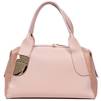 Розовая сумка Gilda Tonelli с золотистым декором, фото