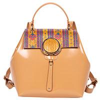 Лаковый рюкзак Gilda Tonelli с принтом-орнаментом, фото