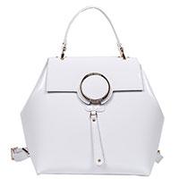Белый рюкзак Gilda Tonelli из лаковой кожи, фото