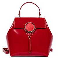 Рюкзак Gilda Tonelli из лаковой кожи красного цвета, фото