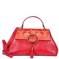 Красная сумка Gilda Tonelli с декором-принтом, фото