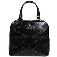 Сумка-портфель Gilda Tonelli с принтом черного цвета, фото