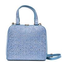 Синяя сумка Gilda Tonelli с золотистой росписью, фото