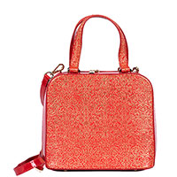 Квадратная сумка Gilda Tonelli красного цвета, фото