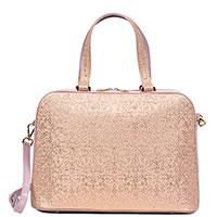 Сумка Gilda Tonelli розового цвета с декором-росписью, фото