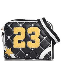 Черная сумка Tosca Blu Twenty-three с декором-заклепками, фото