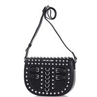 Черная сумка Love Moschino с декором-шипами, фото