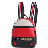 Рюкзак Love Moschino черно-красного цвета, фото