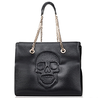Черная сумка Philipp Plein Betty с тиснением в форме черепа, фото