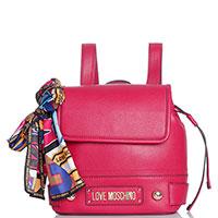 Рюкзак Love Moschino красного цвета с шарфом, фото