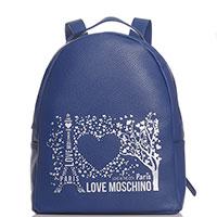 Рюкзак Love Moschino Paris синего цвета, фото